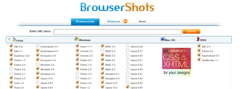 Screenshot Browsershots.org
